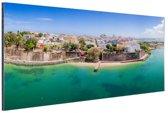 San Juan  Aluminium 180x120 cm - Foto print op Aluminium (metaal wanddecoratie) XXL / Groot formaat!