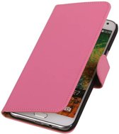 Wicked Narwal | bookstyle / book case/ wallet case Hoes voor Samsung Galaxy E7 Roze