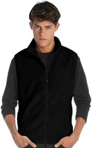 Fleece casual bodywarmer zwart voor heren - Outdoorkleding wandelen/zeilen - Mouwloze vesten XL