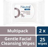 Neutral Parfumvrije - Make-up Remover Wipes - 2x25stuks