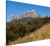 Uitzicht op de mooie bergen van het Nationaal park Andringitra Canvas 120x80 cm - Foto print op Canvas schilderij (Wanddecoratie woonkamer / slaapkamer)