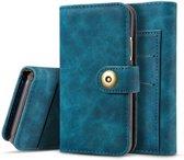 Mobigear Retro Detachable Magnetic Wallet Hoesje Blauw Apple iPhone 11 Pro