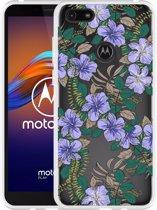 Motorola Moto E6 Play Hoesje Purple Flowers
