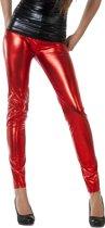 Jaren 80 & 90 Kostuum | Legging Ponter Sisters Rood Vrouw | Medium | Kerst | Verkleedkleding