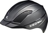 KED Allegra L black matt carbon helm met hoofdomtrek: 57-63 cm