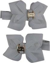 Jessidress Mini Haar clip met Kleine haar strikjes - Wit