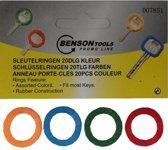 Sleutelring Kleur -  Gekleurde Sleutelringen - Sleutelhoes - Hoesjes - Diverse kleuren - 20 stuks