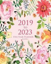 2019-2023 Five Year Planner Romantic Flowers