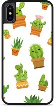 iPhone Xs Hardcase hoesje Happy Cactus