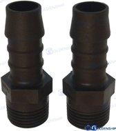 Slang Adapter polyamide (schroefdraad: 3/8'', voor slang: 12mm) per 2 stuks (GS30130)