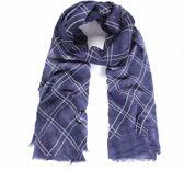 Sjaal gevlekt met blokmotief