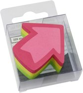 info shaped sticky notes 50x50mm pijl assorti 225 vel