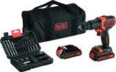 BLACK+DECKER - BDCHD18BS32-QW - 18V accuschroef-/klopboormachine met 2X accu's, lader, softbag en 32 accessoires