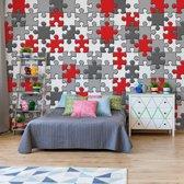 Fotobehang 3D Jigsaw Puzzle | VEXXL - 312cm x 219cm | 130gr/m2 Vlies