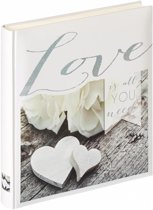 Walther Design UH-155 Love Is All You Need - Fotoalbum - 28 x 30,5 cm - Grijs/Wit