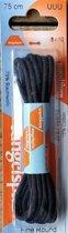 1 paar schoenveters 2.5 mm x 75 cm Navy donker blauw - Dunne ronde veter 25% polyamide Ringpoint 80