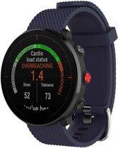 Siliconen Horloge Band Voor Polar Vantage M - Armband / Polsband / Strap Sportband - Donker Blauw