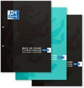 Oxford Cursusblokken - A4 - Gelijnd, 2 gaats - Voordeelpakket 2+1 gratis (3 willekeurige kleuren)