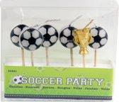 Voetbal Kaarsenset - 6 stuks