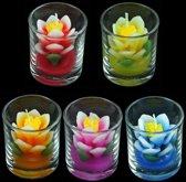 Kaarsen in glas in verpakking van 10 stuks