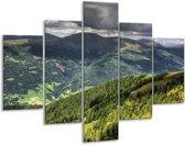 Glasschilderij Natuur | Groen, Grijs, Blauw | 100x70cm 5Luik | Foto print op Glas |  F001635