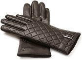 NapoELEGANT Echt lederen touchscreen handschoenen   Bruin   maat L