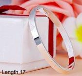 bangle | Luxe armband zilverkleurig |17 cm