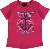 Blue Seven Meisjes T-shirt - Roze - Maat 86