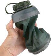 Waterfles 750ml vouwbaar outdoor opvouwbare compacte drinkfles licht gewicht opvouwbaar stash bottle fles vouwbare veldfles