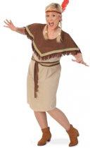 Grote maat Indiaanse jurk voor dames 46 (3xl)