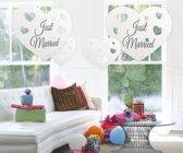 Hangdecoratie harten Just Married