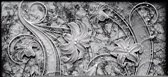 Fotobehang Muur, Bloemen   Grijs   416x254
