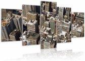 Schilderij - NY rooftops