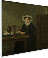 Portret van een vrouw - Schilderij van Harmanus Uppink Plexiglas 60x80 cm - Foto print op Glas (Plexiglas wanddecoratie)