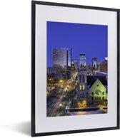 Foto in lijst - Foto van Minneapolis in het noorden van de Verenigde Staten fotolijst zwart met witte passe-partout klein 30x40 cm - Poster in lijst (Wanddecoratie woonkamer / slaapkamer)