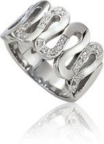 Slate - Stalen ring met steen Maat 60 - Met zirkonia