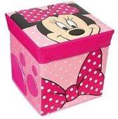 Disney Minnie Mouse - Opvouwbare opberg poef - 30 x 30 x 30 cm - Roze