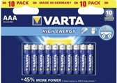 Varta - High Energy Batterijen - AAA Potlood - 10 stuks