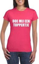 Doe mij een Toppertje shirt roze voor dames - Toppers dresscode 2018 - maat L