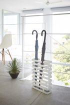 Yamazaki Paraplubak Parapluhouder - Brick Rechthoekig wit - RVS