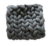 Wollen deken GRIJS / woondeken / plaid XXL merino wol - 150 x 200 cm - in 44 kleuren verkrijgbaar