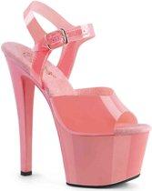 SKY-308GF (EU 41,5 = US 11) 7 Heel, 2 3/4 Glitter Filled PF Ankle Strap Sandal