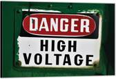 Dibond – Danger High Voltage'– 60x40 Foto op Dibond;Aluminium (Wanddecoratie van metaal)