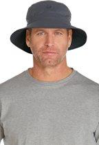 Coolibar UV bucket hoed Heren - Lichtgrijs/Grijs - Maat L/XL