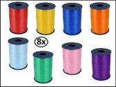 8x krullint combi kleur 5mmx500meter