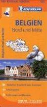 Michelin Regionalkarte Belgien Nord / Mitte 1 : 200 000