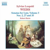 Weiss: Sonatas for Lute Vol 3 / Barto