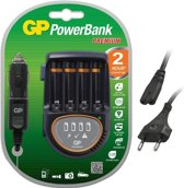 GP Powerbank H500 Lader voor 220v en auto