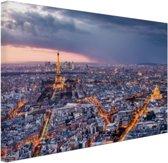 FotoCadeau.nl - Parijs vanuit de lucht Canvas 60x40 cm - Foto print op Canvas schilderij (Wanddecoratie)
