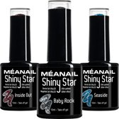 MEANAIL® Shiny Star 3 kleuren- Glitters - 10ml